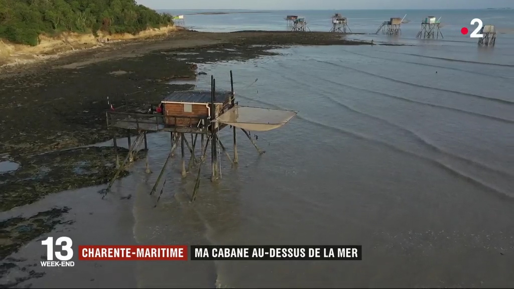 France 2 journal 13h Carrelet Charente Maritime